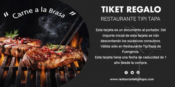 Tarjeta Regalo - restaurante Tipi Tapa